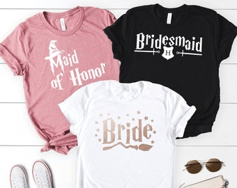 Set of Wizard Themed Bachelorette Party Shirts, Bridal Party Shirts, Bachelorette Party, Bridesmaid Shirts, Bachelorette Tshirts
