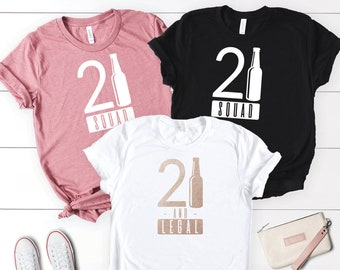 Birthday Shirts 21st Shirt Girl Squad Tank Party 21 And Legal Gift