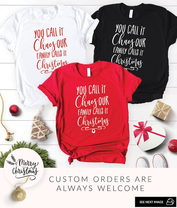 d1fd4ac7 Funny Christmas Shirt Family Christmas Shirt Matching Family | Etsy