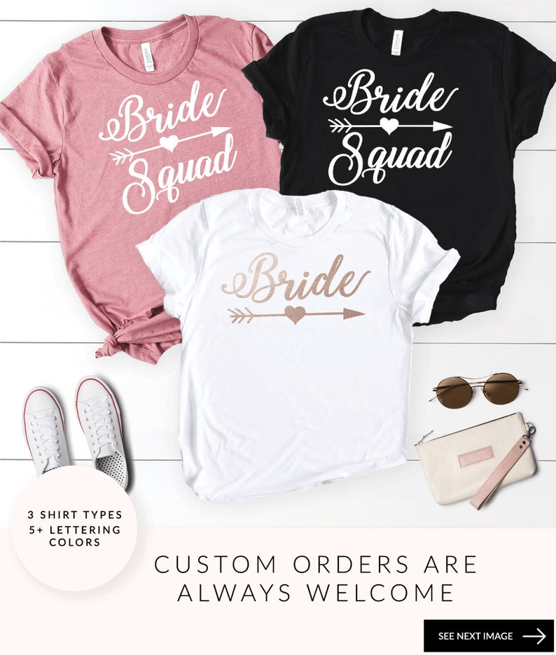 ff88be6f Bride Squad Shirts Bachelorette Party Shirts Bridal Party | Etsy