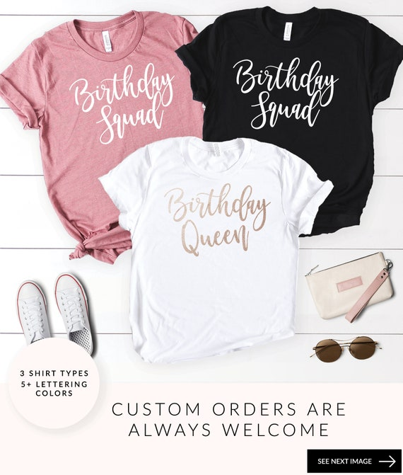 Birthday Squad Shirts Queen Shirt Party