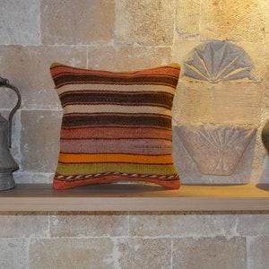 16\u201dx24\u201d Kilim Throw Pillow Bench Cushion Kilim Pillow Covers EA288 16x24 Kilim Pillows Outdoor Cushion Floor Cushion Couch