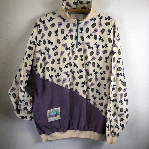 Vintage 80s does 1940s RETRO Pullover Windbreaker