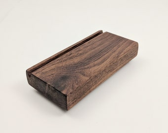 Wood business card holder etsy wood business card holder business card display recipe card holder office organization desk accessory reheart Choice Image