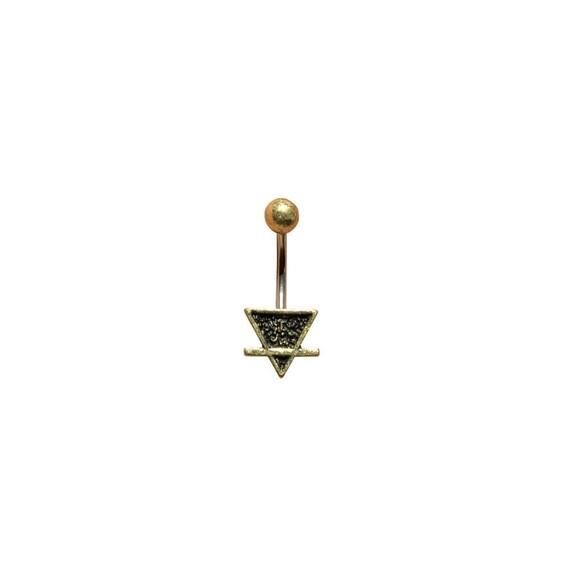 Gold Ton Erde Element Bauchnabel Ring Für Den Stier Jungfrau Etsy