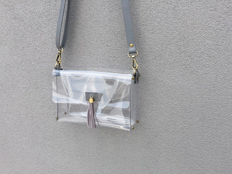 bfe4f36c0477 Clearlee Grey    Clear Bag Purse Crossbody Bag Clear Handbag
