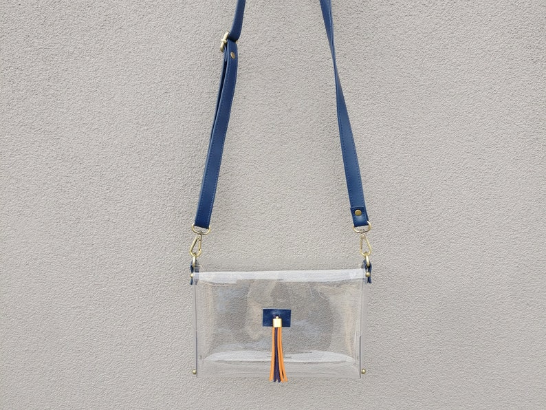 6cc2b42a9c4e Clearlee Auburn    Clear Bag Purse Crossbody Bag Clear Handbag
