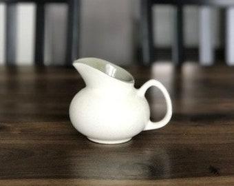 Cream and Sage Ceramic Creamer
