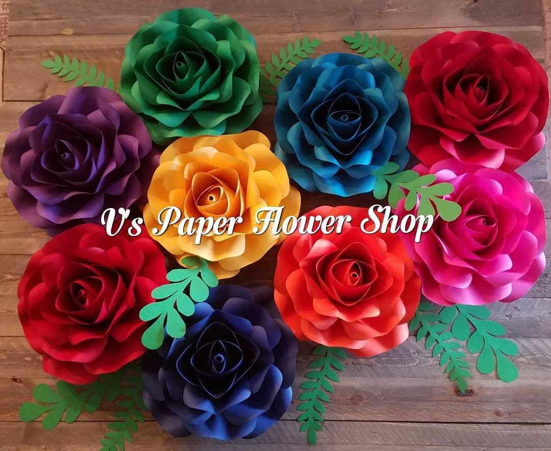 Paper Flower Backdrop For Coco Party Fiesta Theme Party Etsy