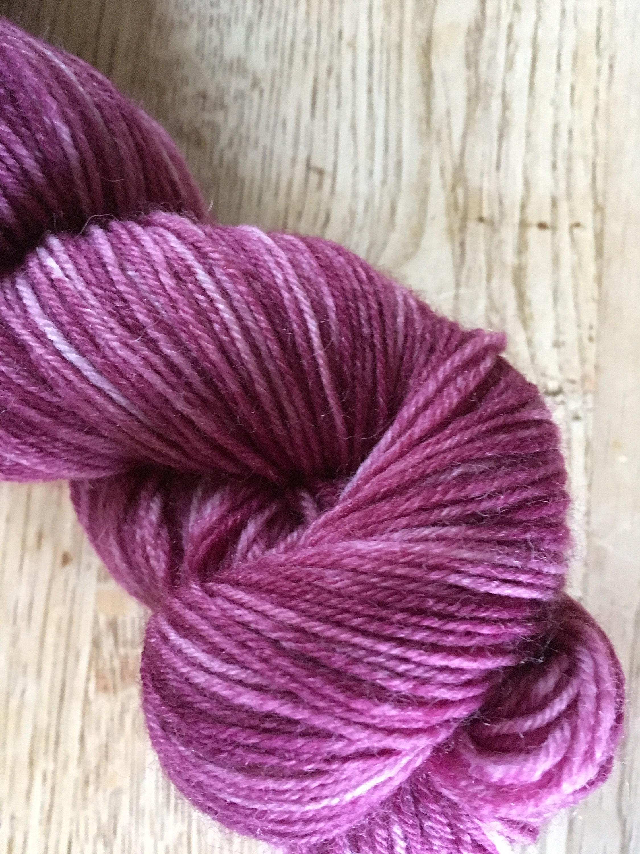 Laine à à Laine chaussette en coloris «bisous framboise» 001ce9