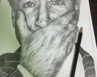 Robin Williams A4 portrait.