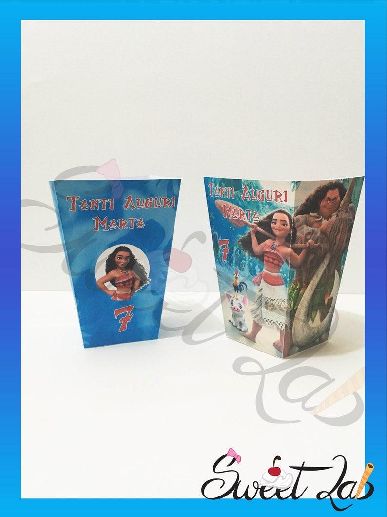 Personalizzato Festa Porta Moana Popcorn CompleannoEtsy Oceania m0v8wNn