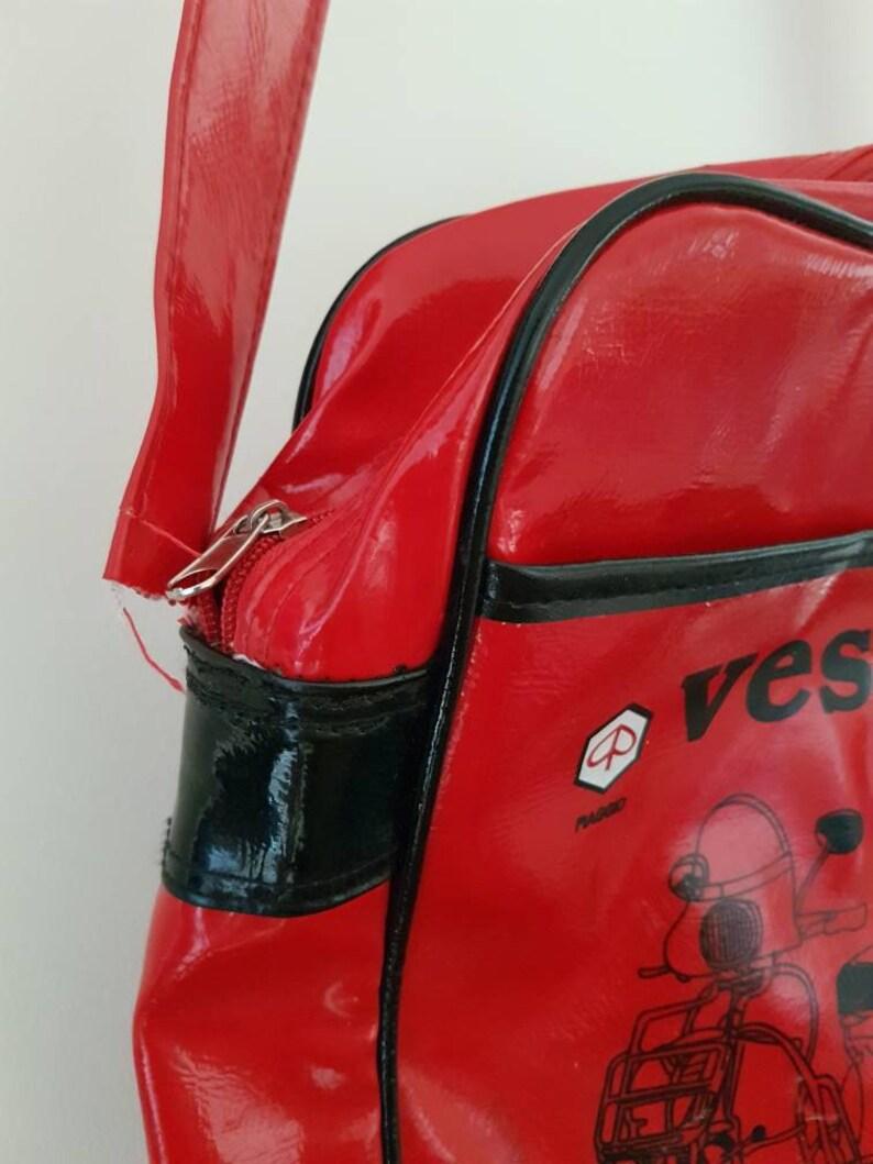 Vintage Vespa Red Shoulder Messenger Bag