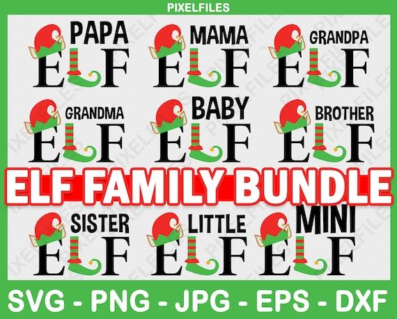 Elf Svg  Mommy Elf  Daddy Elf Svg  Elf Family Svg  Christmas Svg  Clipart  Instant Download