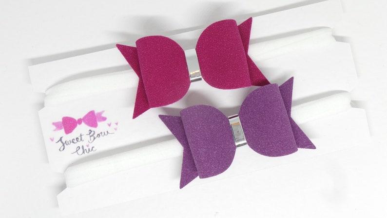 Hair Bun Wrap Autumn Hair Accessories for Kids, Faux Suede Bow Nylon Baby Headband Gift Set