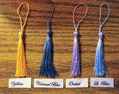 Choice of 24 Colors Set of 4 Nylon Thread Tassels for Crafts