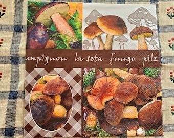 10x edible mushrooms toadstools sugar cupcake topper autumn more dark red