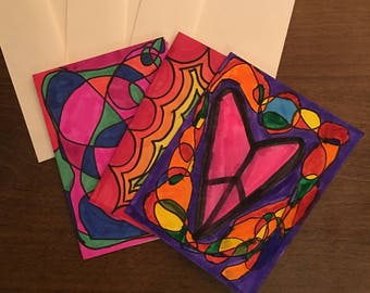 """Artist's Choice Card Sets of 6 4""""x5.5"""" greeting cards"""