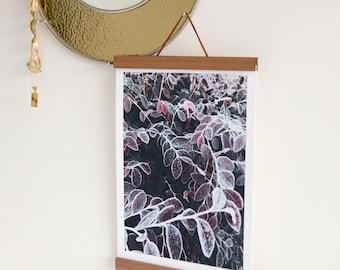 Purple leaf print / Leaf print