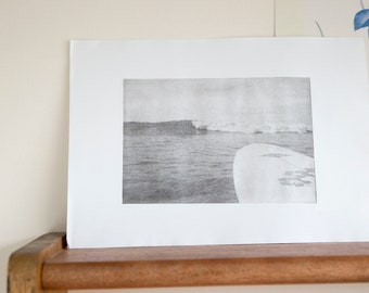 Surf print / Lithograph / Photolithography / Surf photo / Surf gift