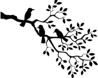 tree branch stencil etsy