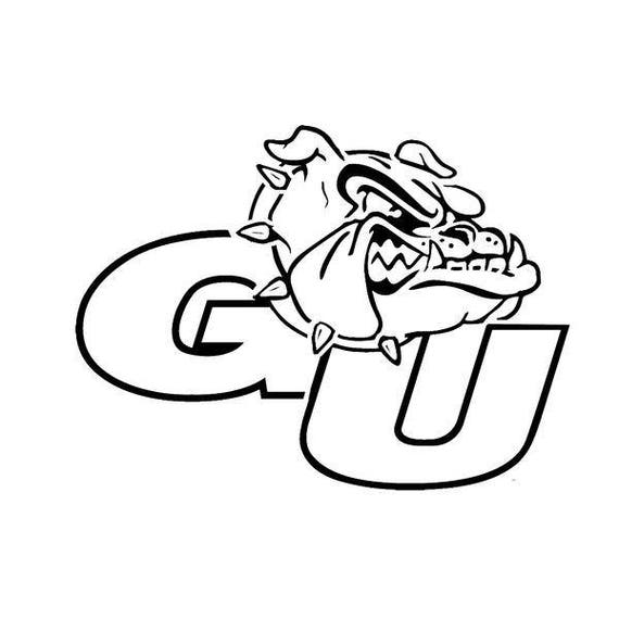 Hard Thick Acrylic WinCraft Gonzaga Bulldogs Logo and State Auto Badge Emblem