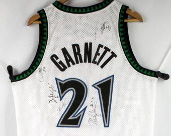56f9e774b Sewn Kevin Garnett Minnesota Timberwolves NBA Jersey Size L Signed