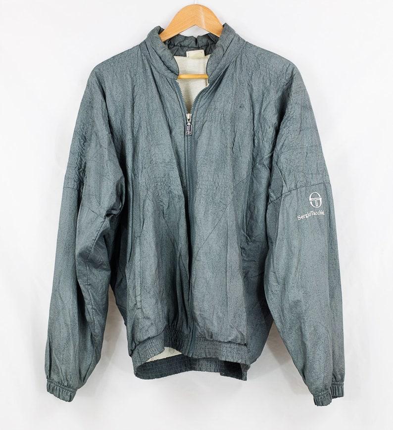 4ae4c62278b Vintage 80s Grey Sergio Tacchini Jacket Size 40   M