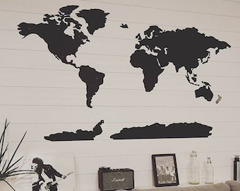 World Map Metal wall decor art