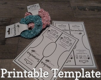 Scrunchie Tag Template | Editable Word Template and PNG file Download