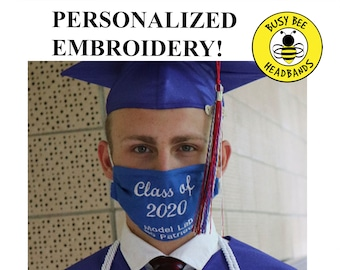 CLASS OF 2021 Face Masks / High School Graduation Mask / Class of 2021 Seniors / College Graduation / Gift for Grad / Personalized Mask