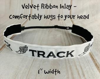 "7/8"" TRACK AND FIELD Headband / Track Headband / Adjustable Nonslip Headband / Button Headband Option by Busy Bee Headbands"