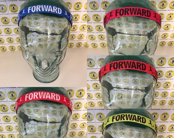 "SOCCER FORWARD  (7/8"" width) Adjustable Nonslip Headband / Busy Bee Headbands / Fits 2 yrs to Adult / Athletic"