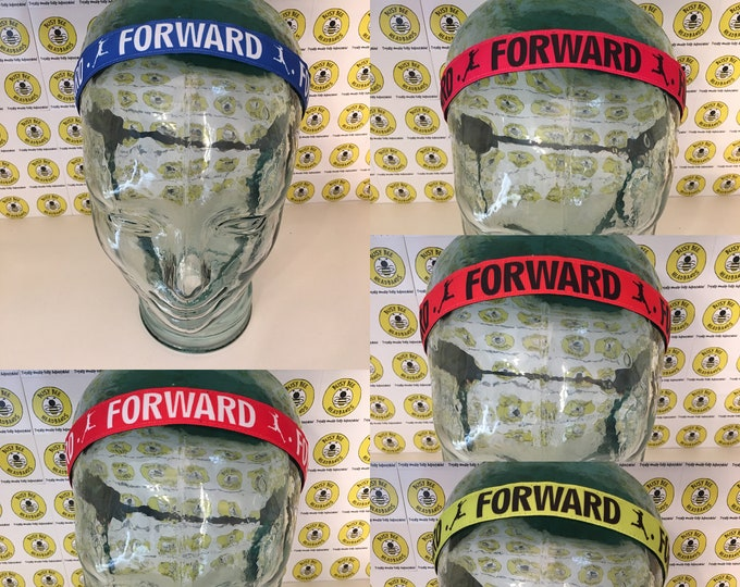 "Free Shipping! SOCCER FORWARD  (7/8"" width) Adjustable Nonslip Headband / Busy Bee Headbands / Fits 2 yrs to Adult / Athletic"