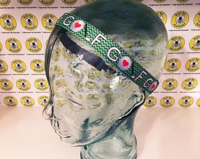 "Free Shipping! LOVE GOLF  (7/8"" width) Busy Bee Headbands Adjustable Non-Slip Headband for Women and Girls Athletic busybeeheadbands.com"
