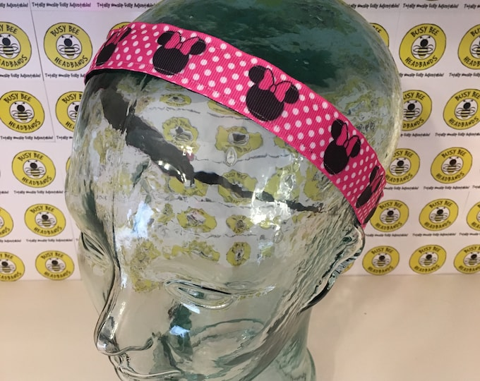 """Free Shipping! DISNEY MINNIE MOUSE  (1"""" width) Busy Bee Headbands Adjustable Non-Slip Headband for Women and Girls Athletic"""