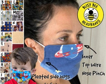 Face Masks Washable Mask Triple Layered Breathable Mask Kits Dust Allergy PPE mask Healthcare Worker Face Mask