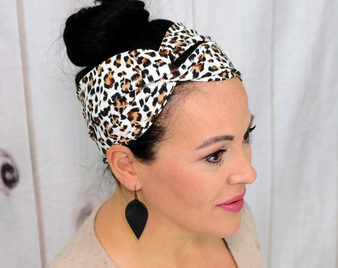 Jaguar Headband / Twisted Turban / One Size Fits Most / Busy Bee Headbands