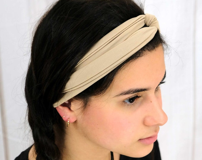 Nude Color Headband / Twisted Turban / One Size Fits Most / Busy Bee Headbands