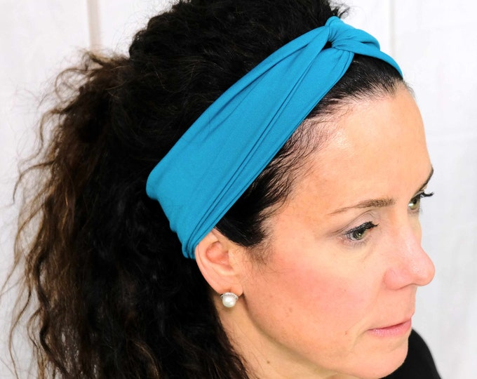 Turquoise Headband / Twisted Turban / One Size Fits Most / Busy Bee Headbands