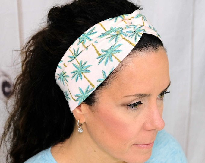 Palm Trees Headband / Twisted Turban / One Size Fits Most / Busy Bee Headbands