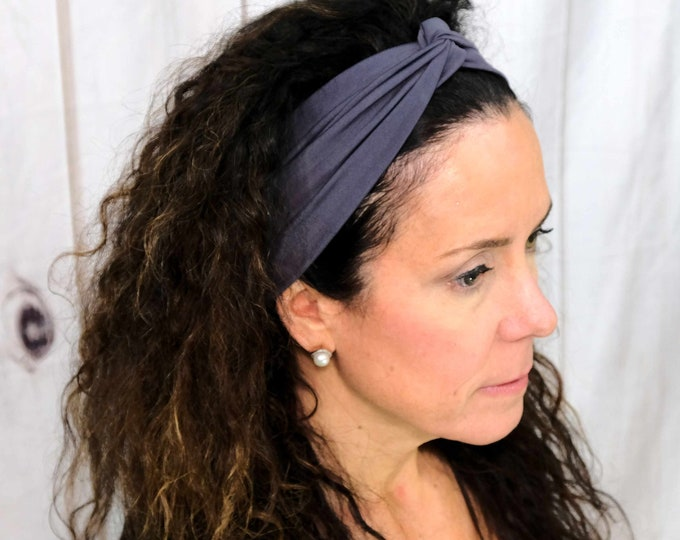 Charcoal Gray Headband / Twisted Turban / One Size Fits Most / Busy Bee Headbands