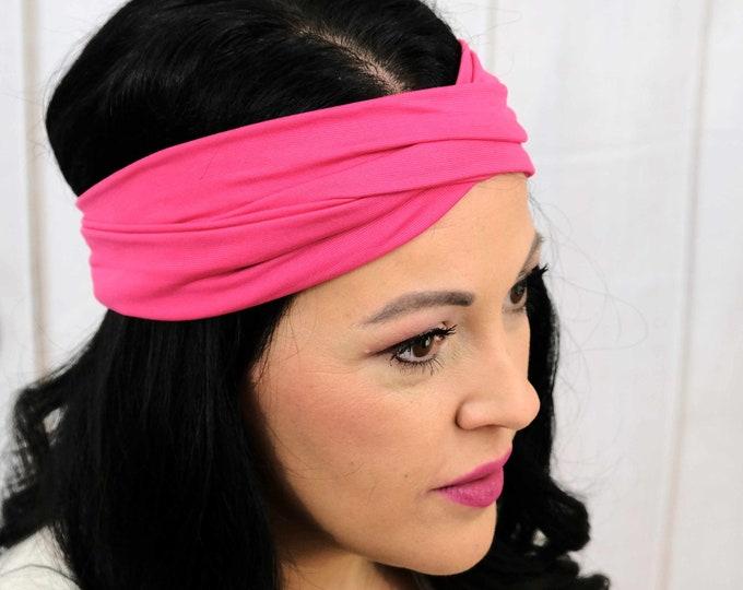 Magenta Headband / Twisted Turban / One Size Fits Most / Busy Bee Headbands