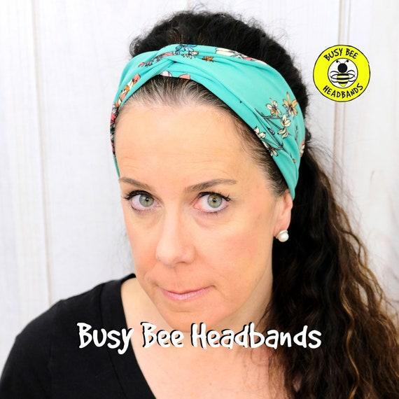 WILD FLOWERS Headband / Turban Headband / Knotted Headband / Wide Headband / Yoga Headband / Flower Headband / Boho Style Headband