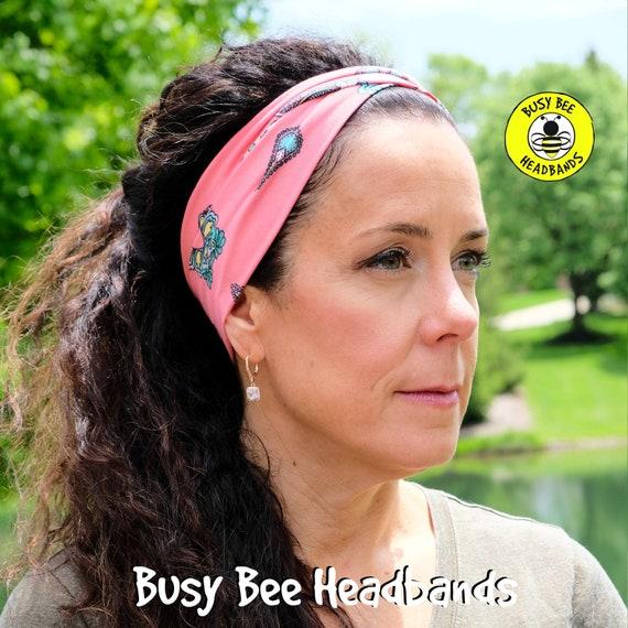 MANGO FLORAL Headband / Turban Headband / Knotted Headband / Wide Headband / Yoga Headband / Flower Headband / Boho Style Headband