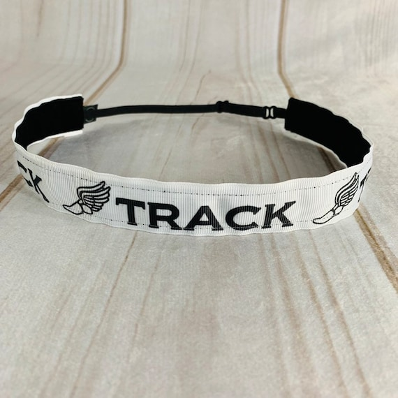 "Adjustable Nonslip TRACK Headband 1"" TRACK and FIELD Headband Fits Ages 2 Yrs to Adult Athletic & Fashion by Busy Bee Headbands"
