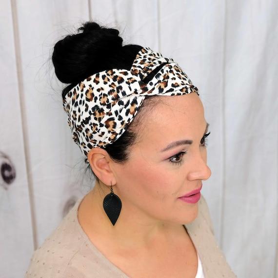 LEOPARD CHEETAH ANIMAL Headband / Turban Headband / Knotted Headband / Wide Headband / Yoga Headband / Flower Headband / Boho Style Headband