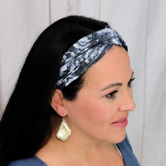 Tie Dye Twisted Turban Headband Boho Head Wrap 'ZENFULLY YOURS' Athletic & Fashion One Size Fits Most by Busy Bee Headbands
