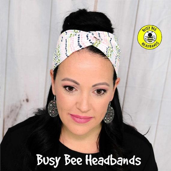 PASTEL DOTS Headband / Turban Headband / Knotted Headband / Wide Headband / Yoga Headband / Polka Dot Headband / Boho Style Headband