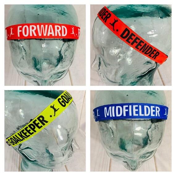 "7/8"" SOCCER Headband / Goalie Midfielder Defender Forward / Nonslip Headband / Adjustable Headband / Exercise Headband / Busy Bee Headbands"